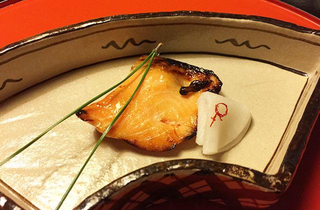 とうふ屋うかいの祝い膳 鮭ハラスの柚庵焼き