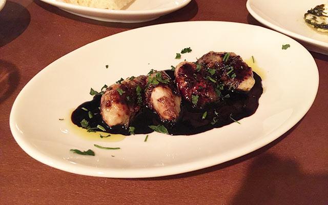 武蔵小山のパレット 牡蠣のバルサミコソース