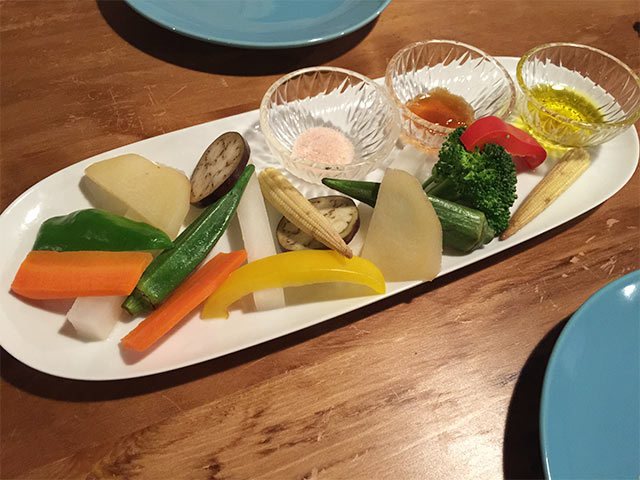 武蔵小山Brownyの温野菜