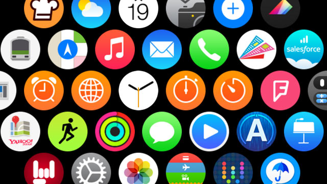 Apple Watchでよく使うアプリは端の方に置いておくと押しやすい