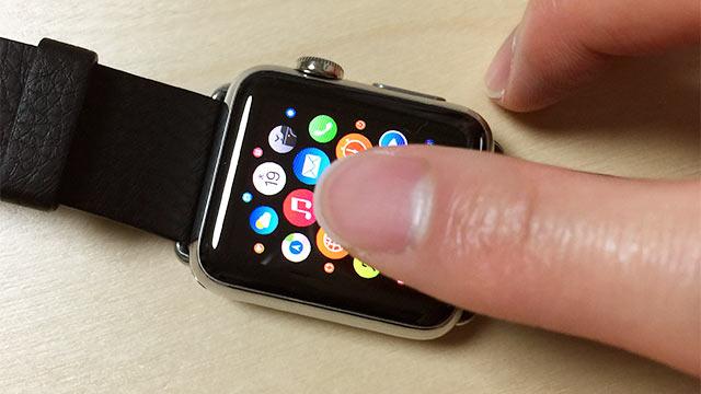Apple Watchの基本操作 タップ