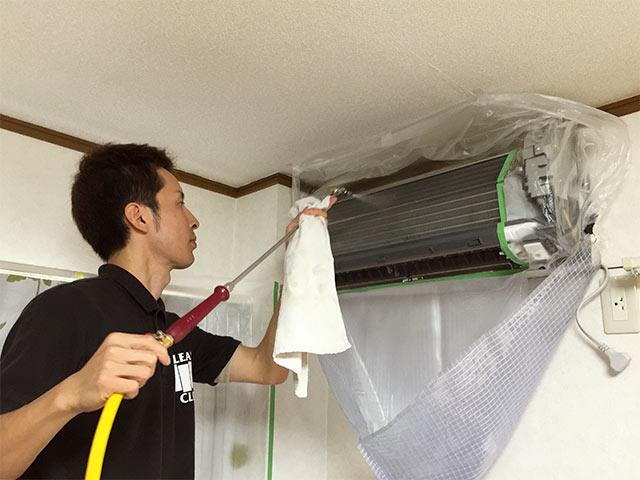 クリーンクラークのエアコン本体の掃除03