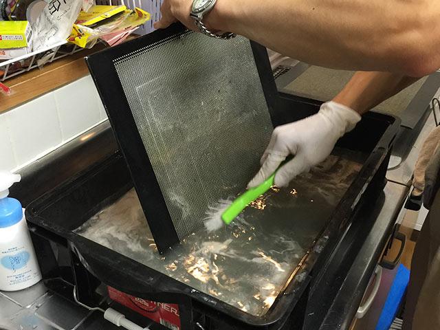 クリーンクラークの換気扇フィルター掃除04