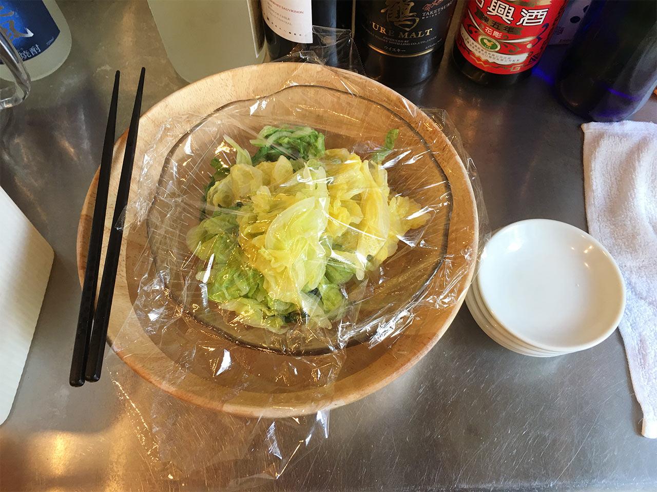 武蔵小山の餃子屋ふく肉のおひたし食べ放題