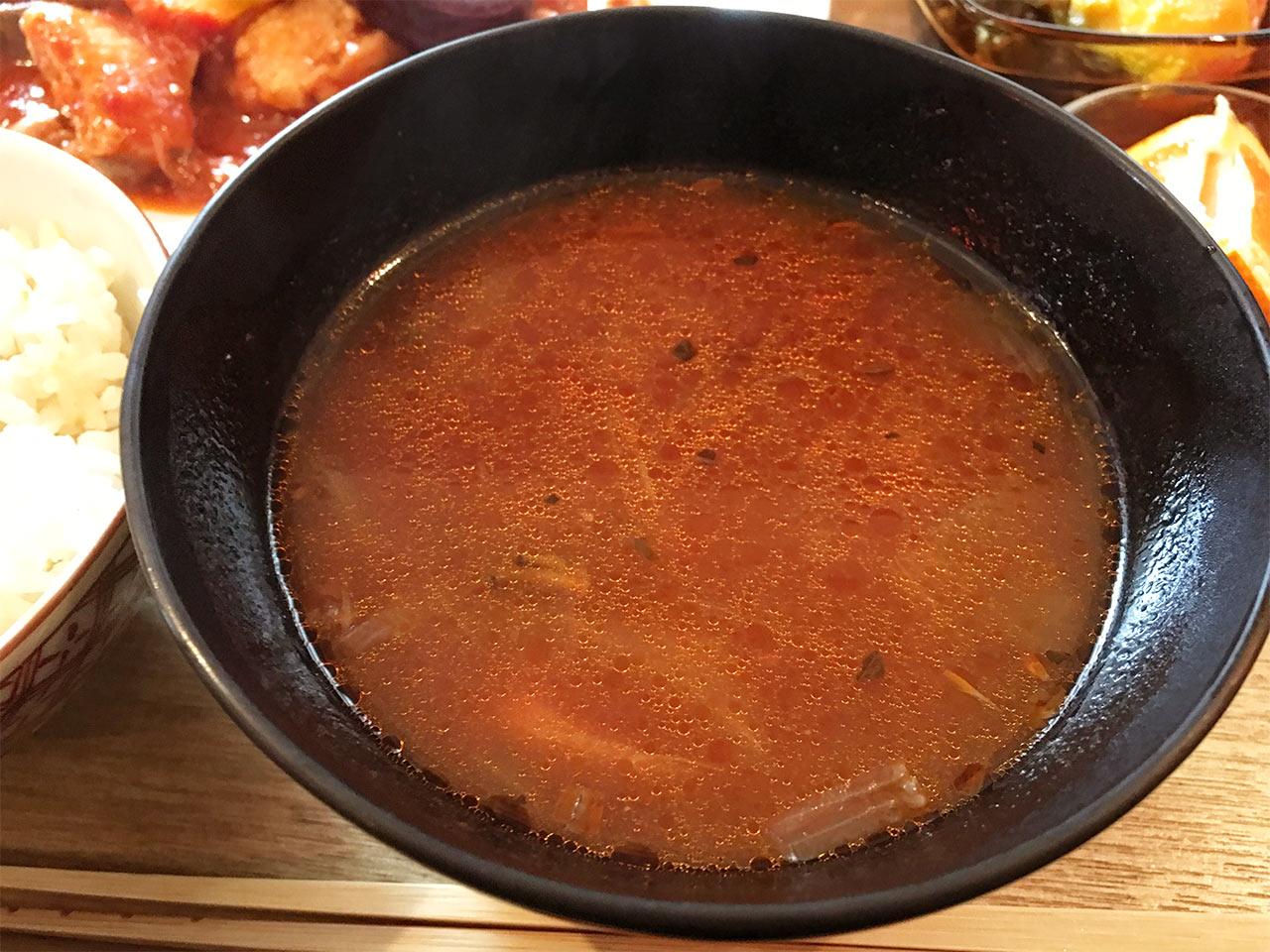 キッチンわたりがらすのランチスープ
