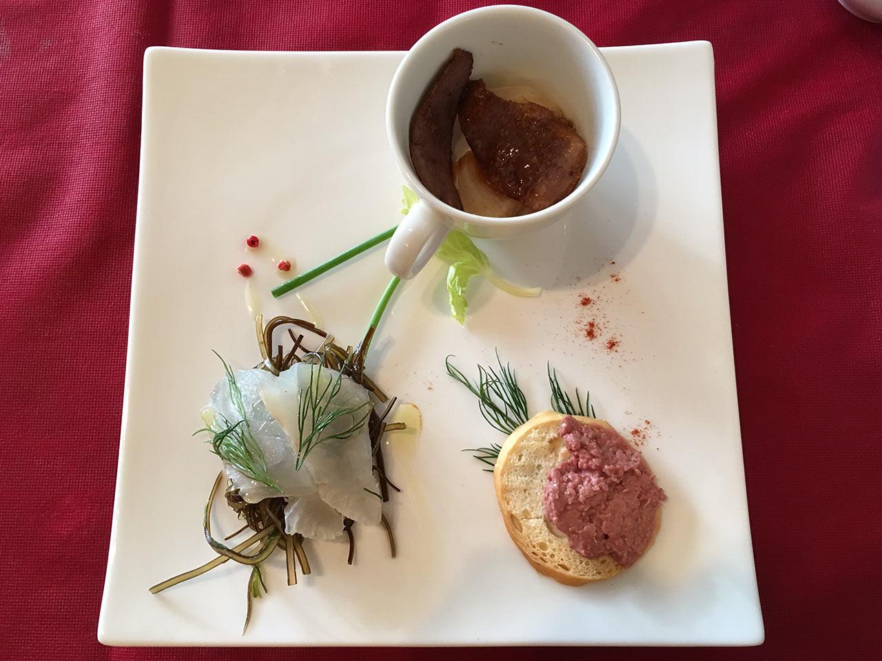武蔵小山レトロワのランチの前菜三種