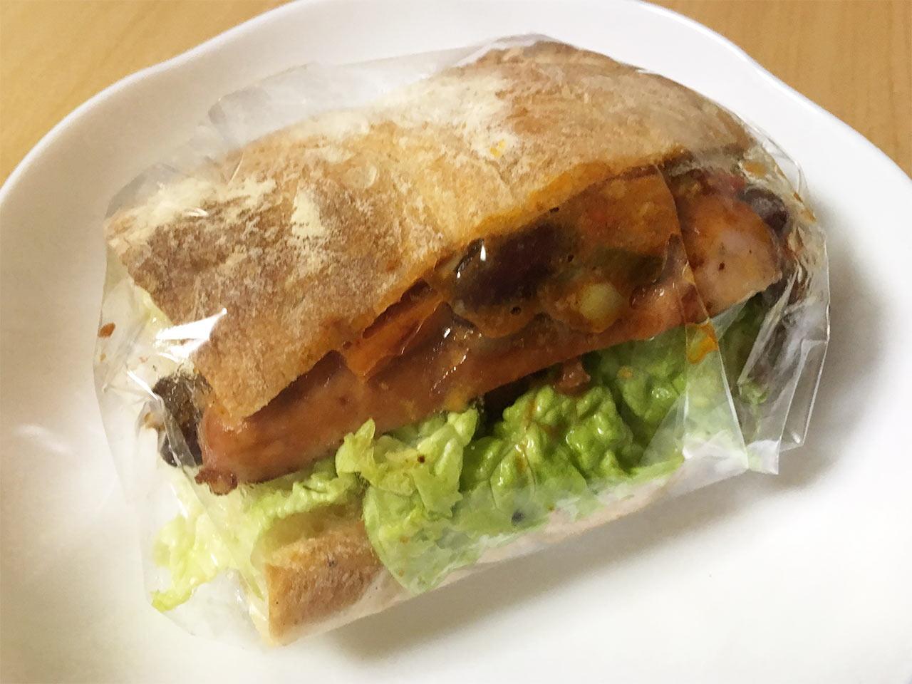 武蔵小山のパン屋nemoのチャバッタサンド