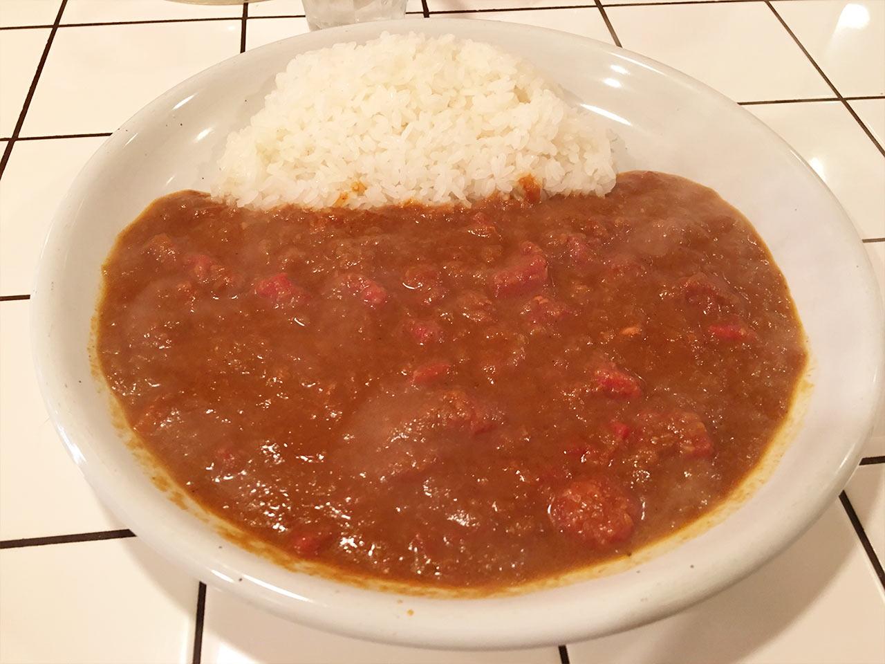 チリチリのトマトカレー