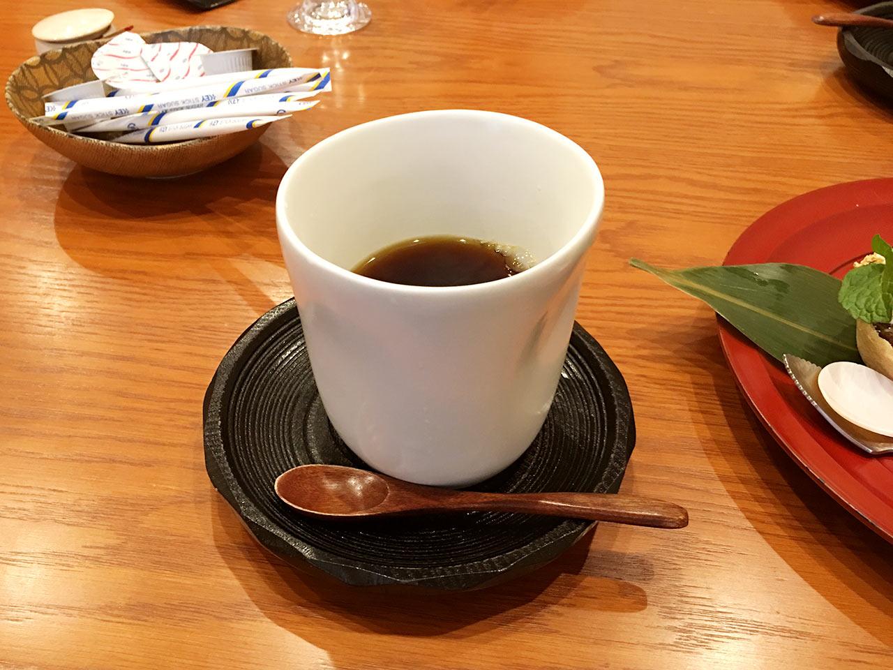 天ぷら割烹うさぎのコーヒー