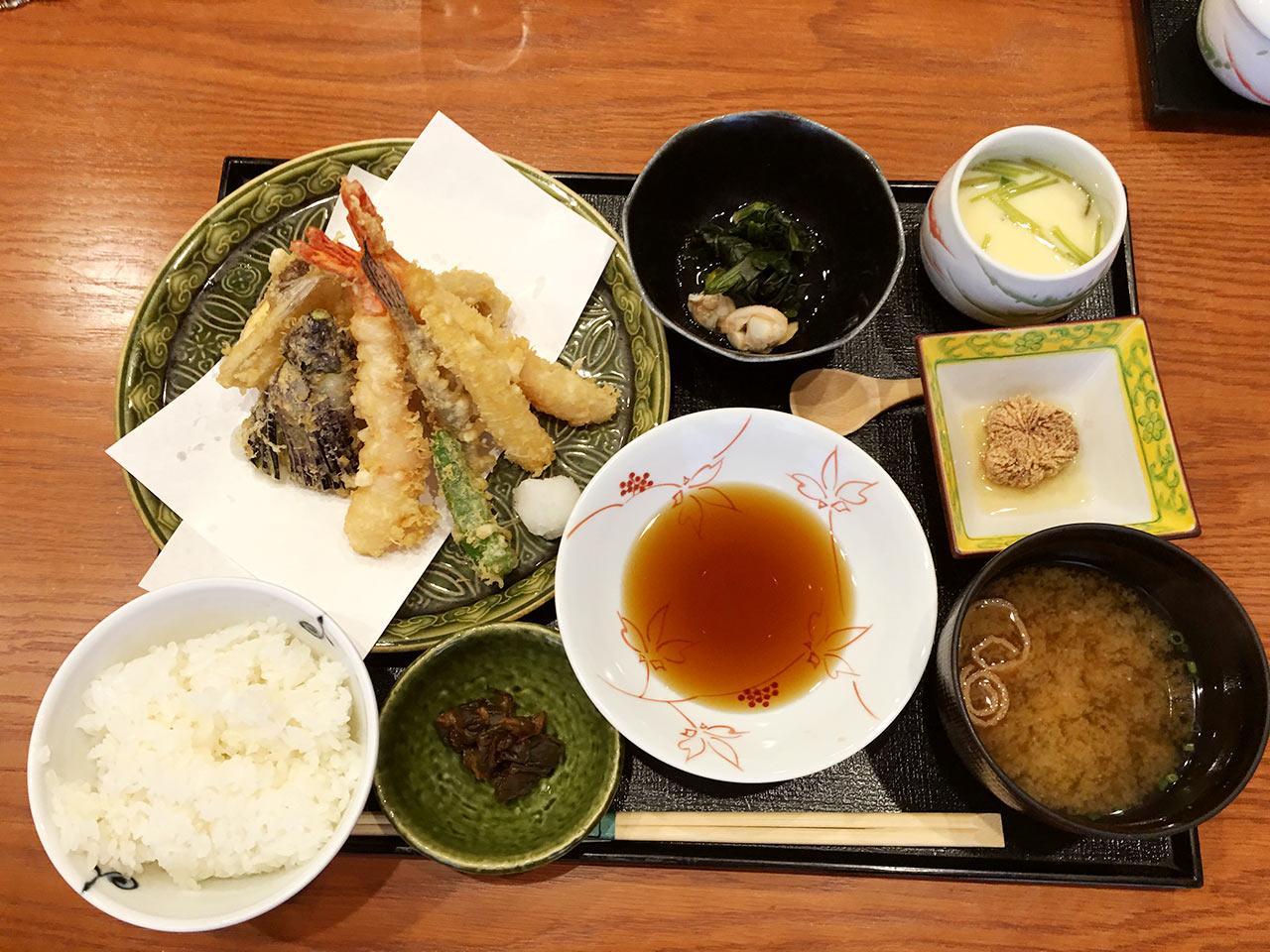 天ぷら割烹うさぎの天ぷら御膳