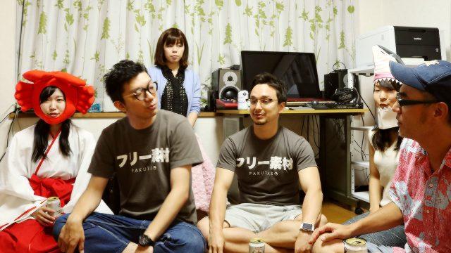 バカタール加藤さんの「崖の上の生放送」におつぱとマックスと一緒に出演しました