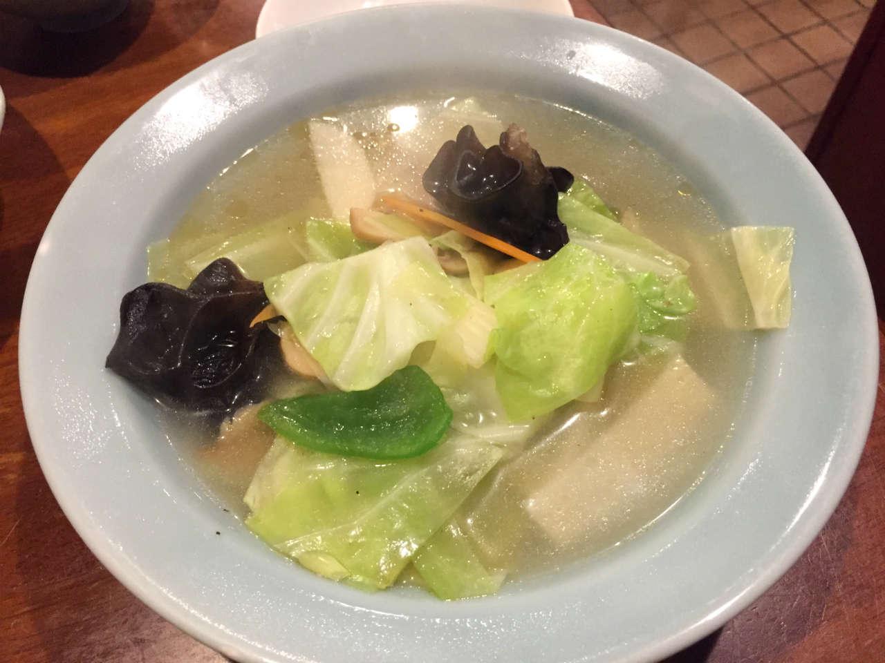 神保町「三幸園」の野菜スープ