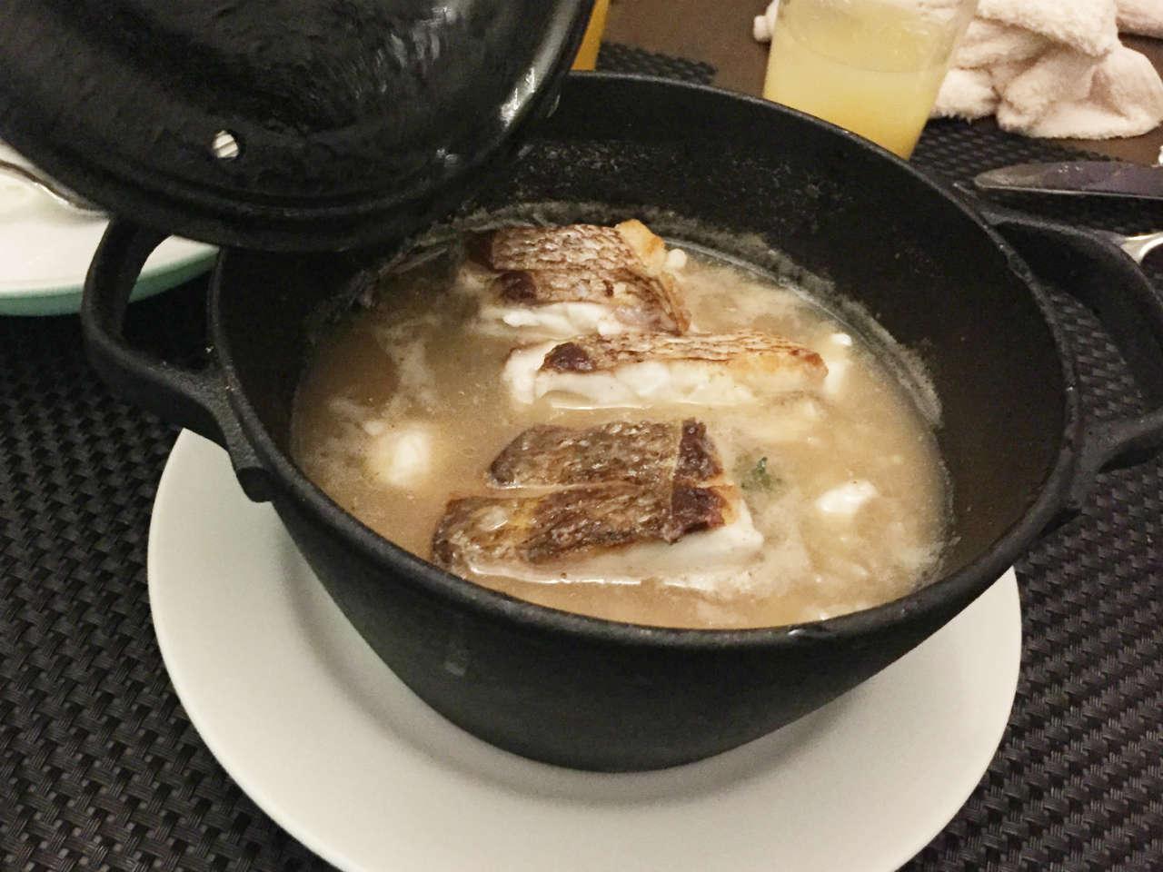 渋谷オーガスタスの愛媛県産真鯛アロスメロッソ