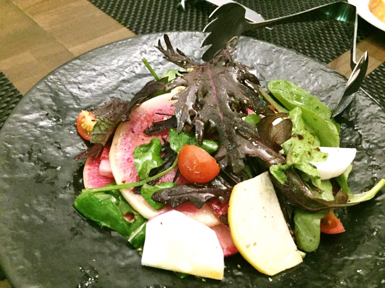 渋谷オーガスタスのサラダ