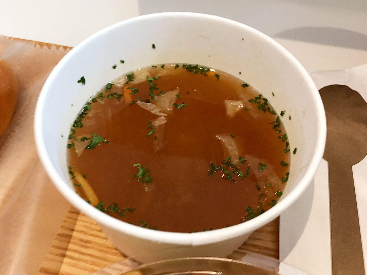 銀座三越「みのりカフェ」のセットのスープ