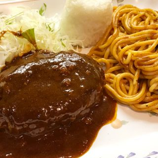 新橋の老舗洋食屋「レストラン はと屋」のナポリタンセット+ハンバーグがうますぎた!!