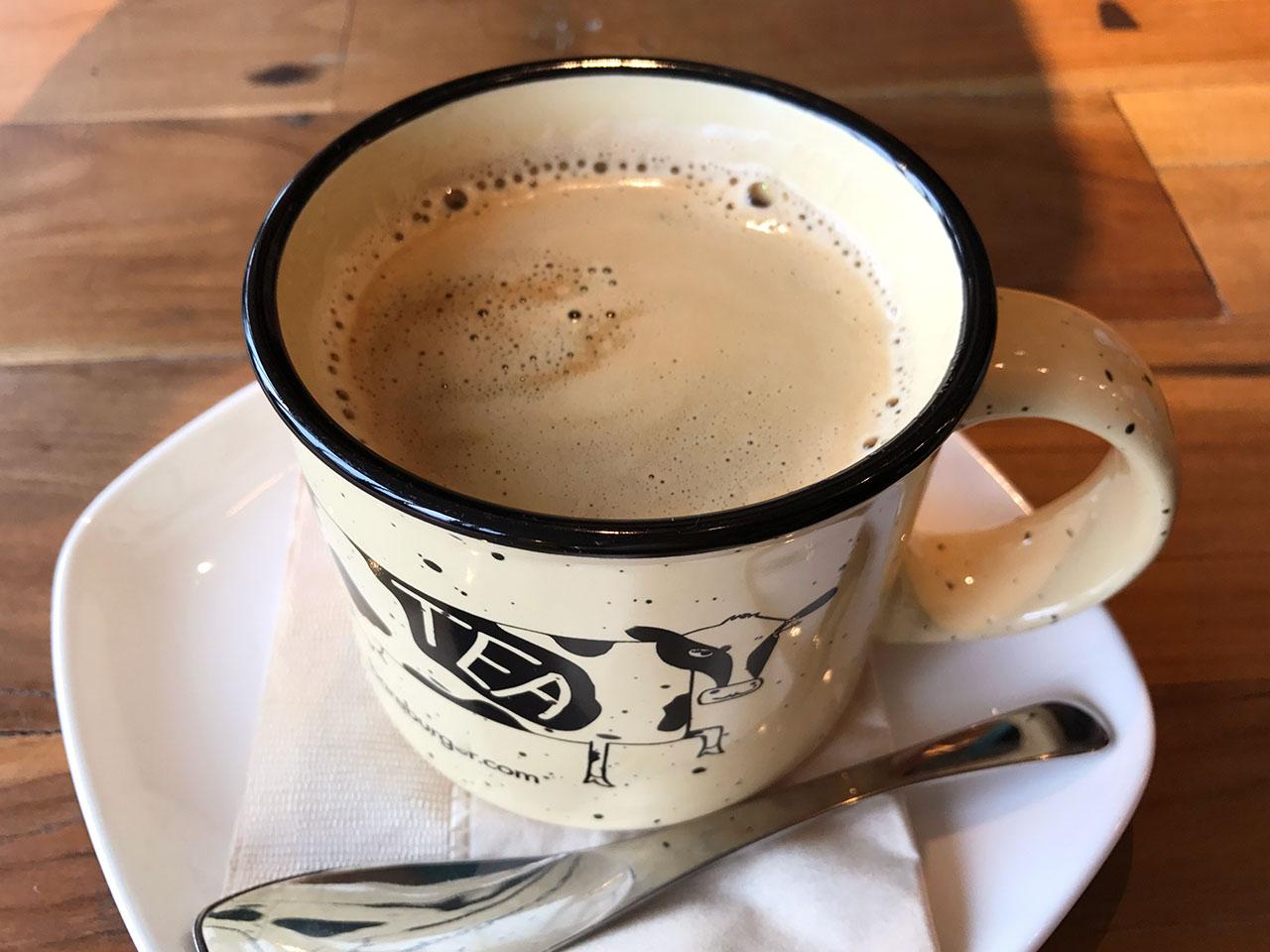 Bareburgerのホットコーヒー
