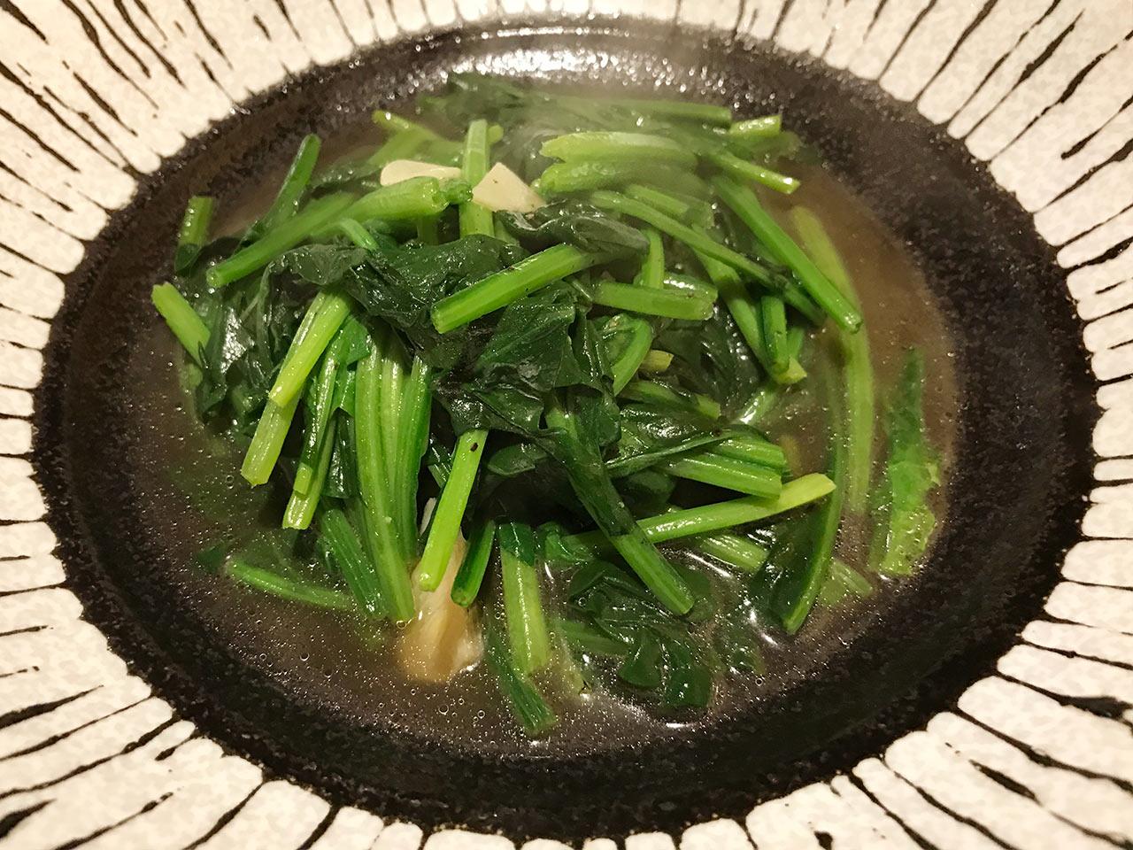 武蔵小山「ぴょん吉」の青菜炒め