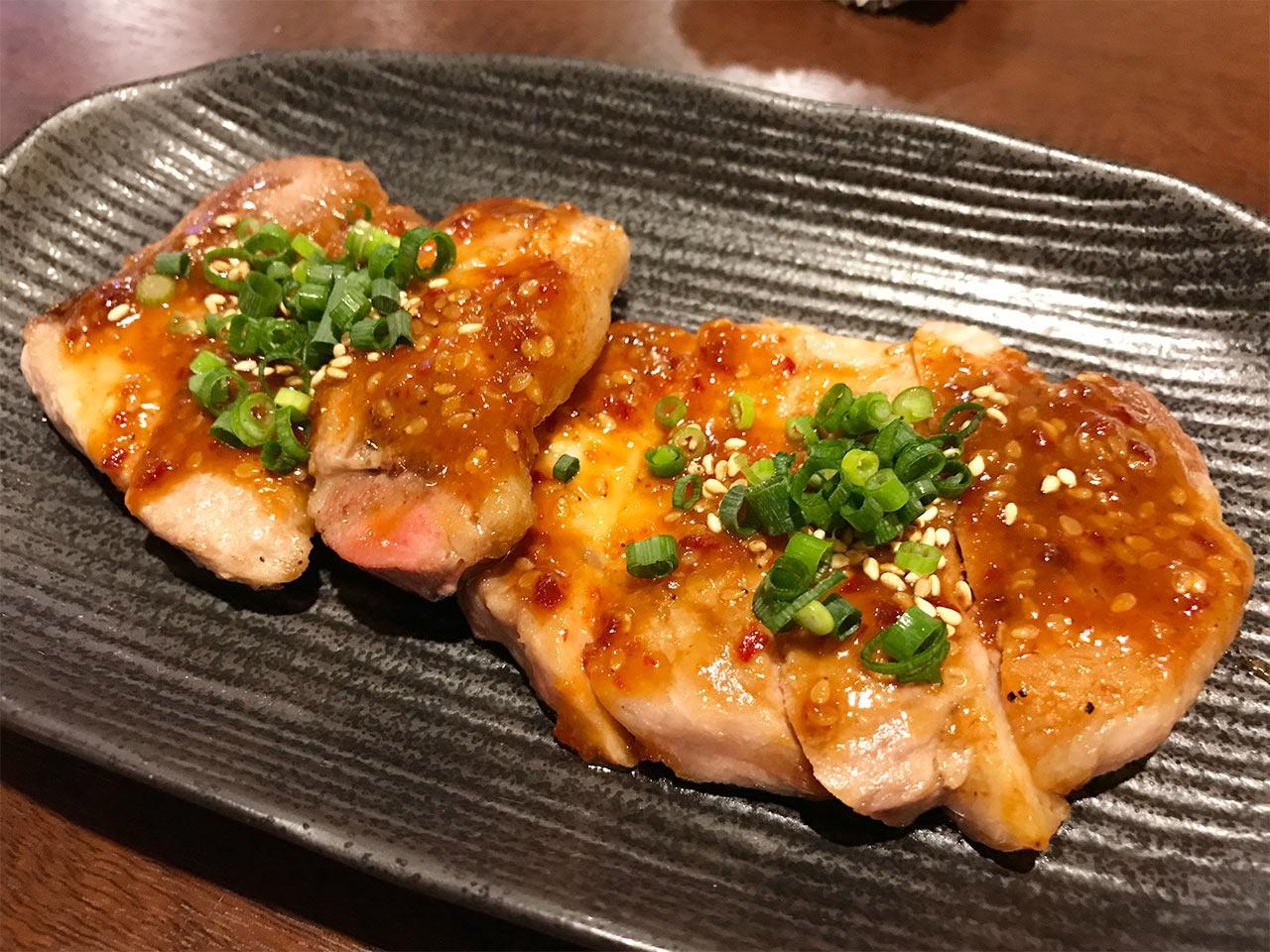 武蔵小山「ぴょん吉」の豚ロースの辛味噌焼き
