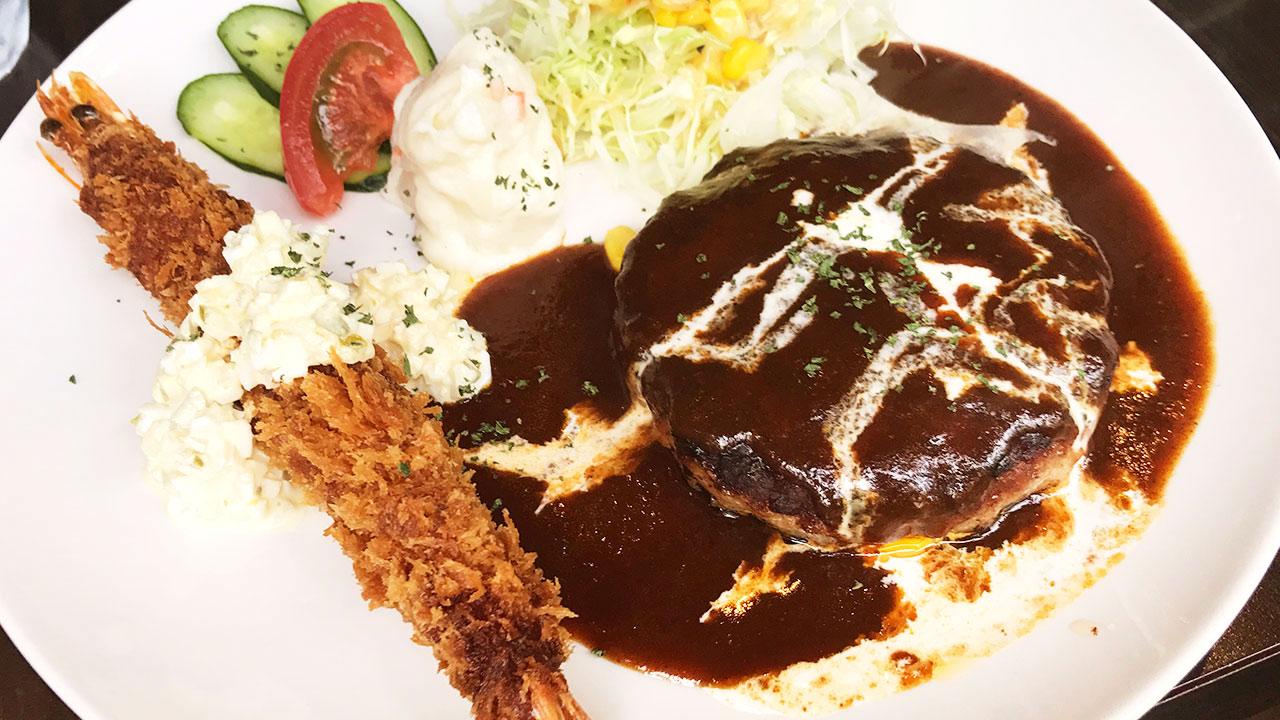 馬車道のダイニングバー「goichi(ゴイチ)」のランチがうまい!ハンバーグ&海老フライ最高でした!