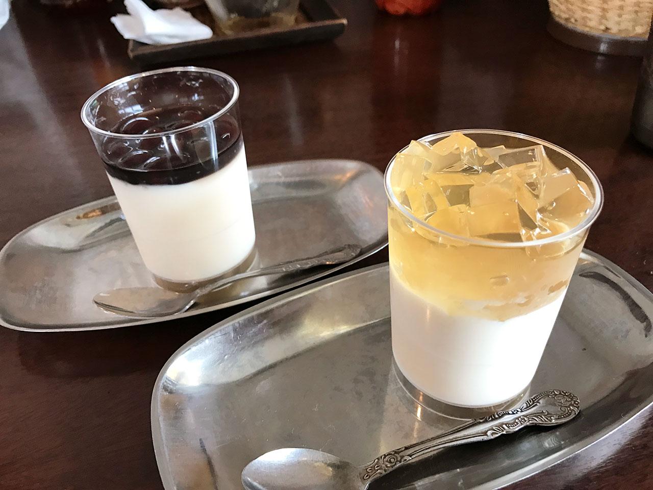 花小金井「杏s カフェ」の杏仁豆腐