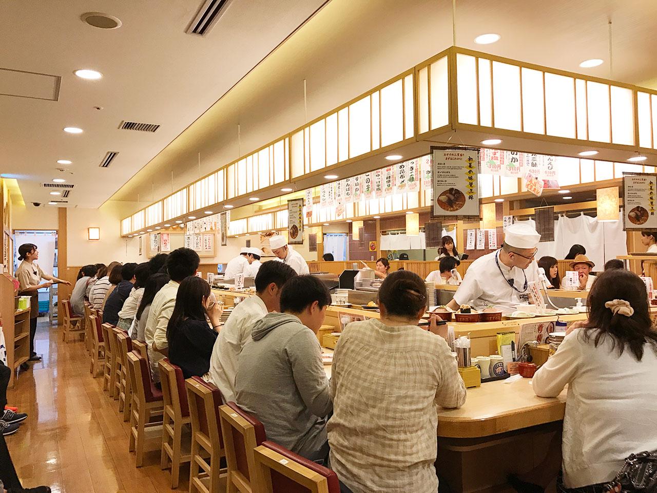 東京ソラマチ「トリトン」の店内