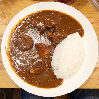 不動前「東印度カレー商会」の上々豚カレー!味も最高だしボリュームもすごい!