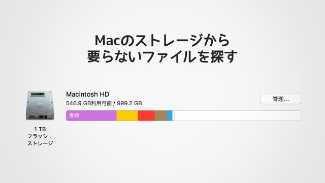 Macのストレージ残量が少なくなった時に!大きいファイル順に並べて削除すべきファイルを探す方法