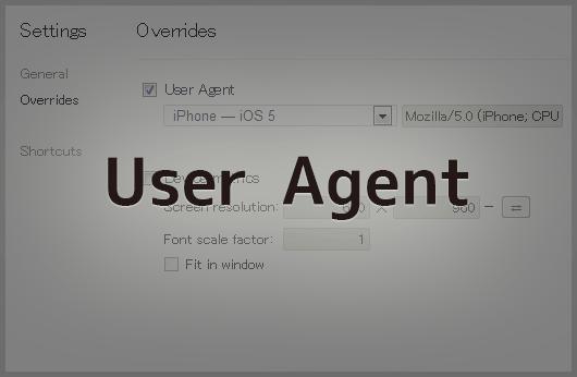 Google ChromeでUser Agentを切り替える方法