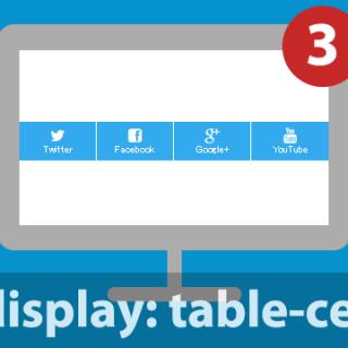 【CSS】table-cellを使って要素を均等に配置する方法