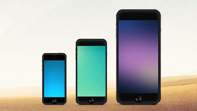 iPhoneの画面のサイズメモ。6は750×1334で6 Plusは1242×2208!