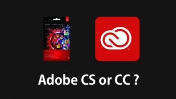 Adobe CS6にアップグレードするかAdobe Creative Cloudにするか