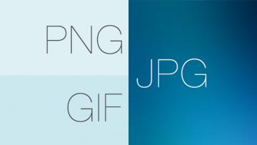 JPGとPNGとGIFの違いを理解できるときれいで軽い画像が作れる