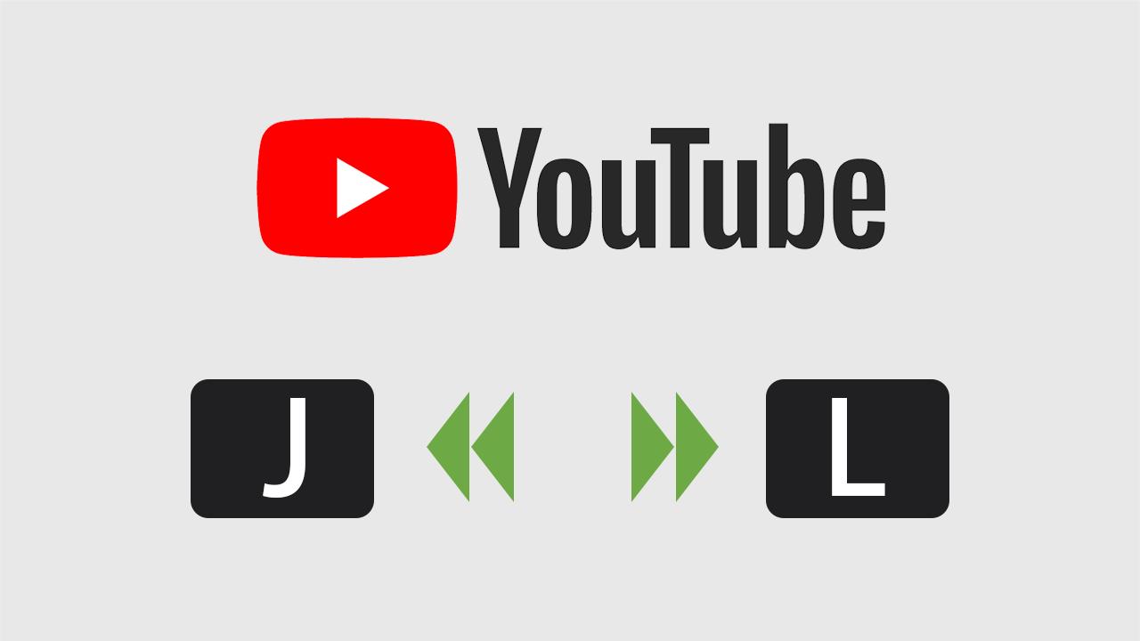 YouTubeで10秒巻き戻し早送りができるショートカットキー「J」と「L」