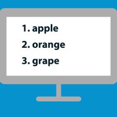 【CSS】番号付きリスト「ol」を途中から始めたり並び順を逆にしたりする方法