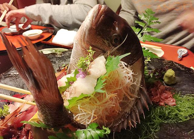 とうふ屋うかいの祝い膳 鯛の姿造り2