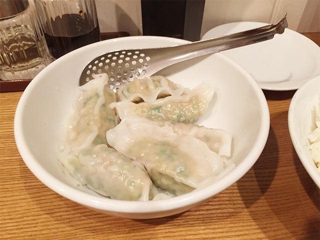 渋谷餃子の水餃子