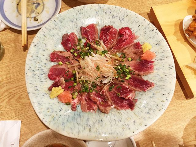 鮨のだり半のマグロほほ肉のたたき