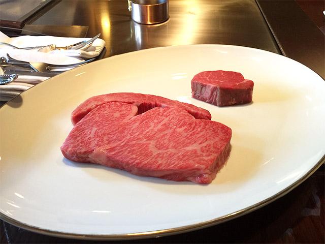 あざみ野うかい亭の焼く前の肉
