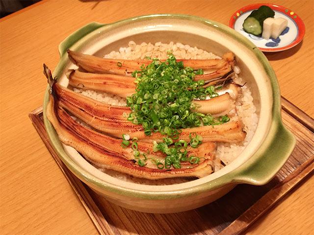 武蔵小山うえ村のアナゴの炊き込みごはん