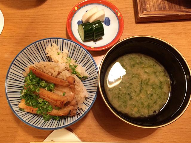 武蔵小山うえ村の味噌汁と漬物