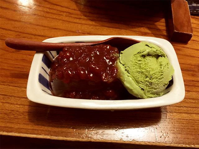渋谷かつ吉のデザート
