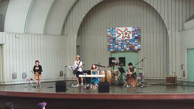 上野水上音楽堂のステージ