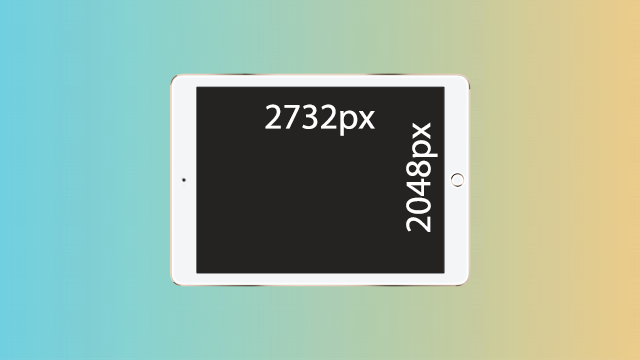 iPad Proの画面サイズメモ。12.9インチで解像度は2048×2732!