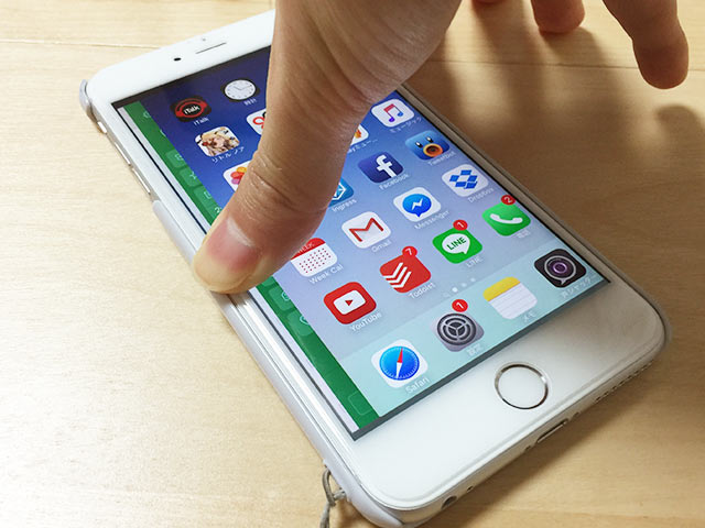 iPhone 6sのエッジプレスを右手で02