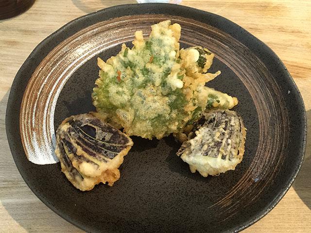 武蔵小山の角壱のおかわりでいただいた野菜天ぷら