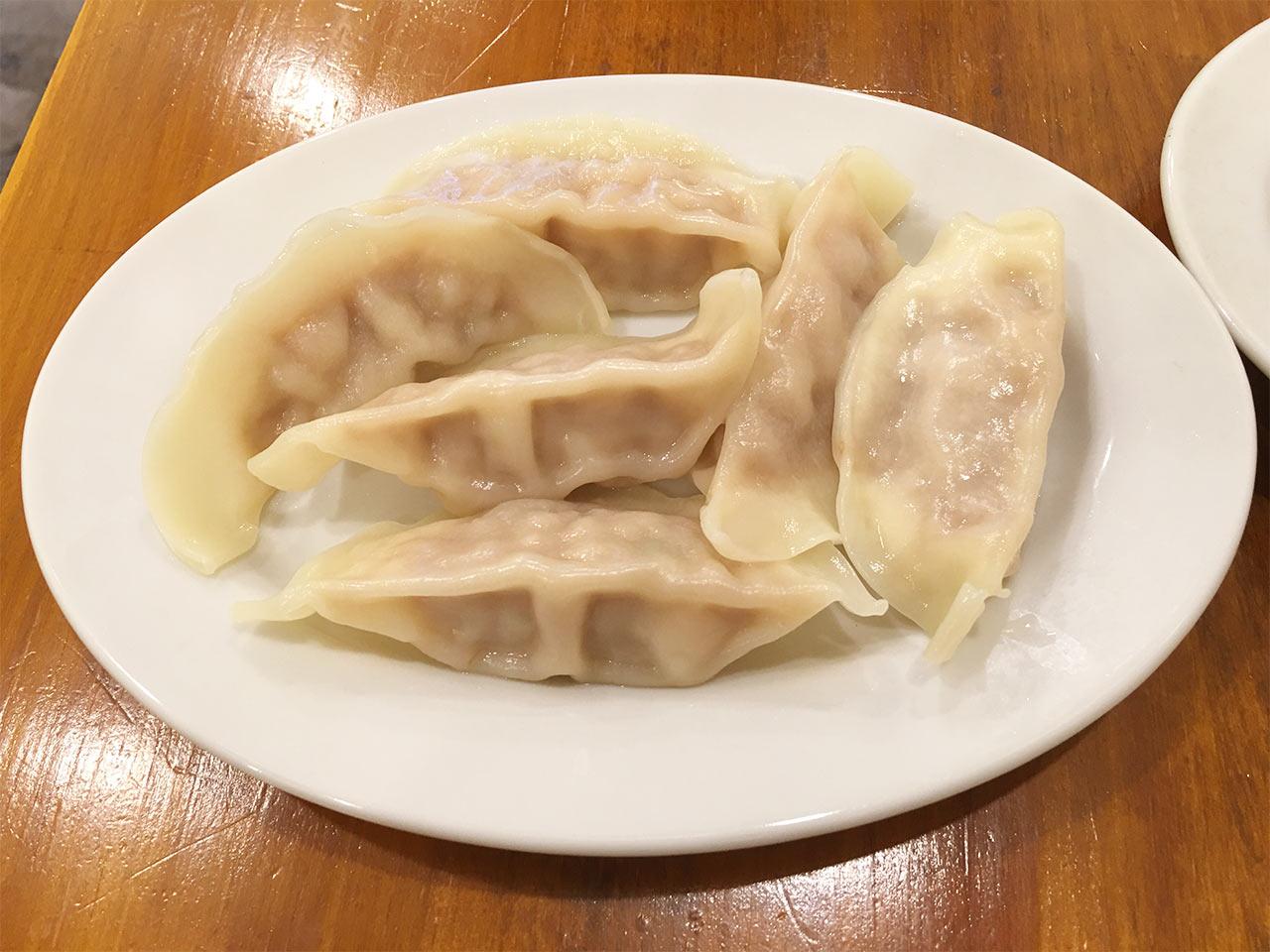 武蔵小山の餃子屋ふく肉の水餃子