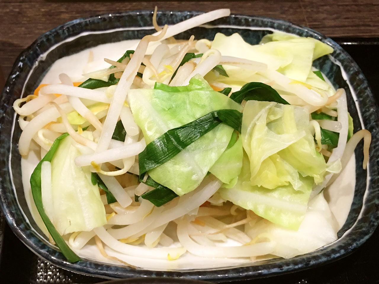 三ツ矢堂製麺の野菜たっぷりつけめんの具材