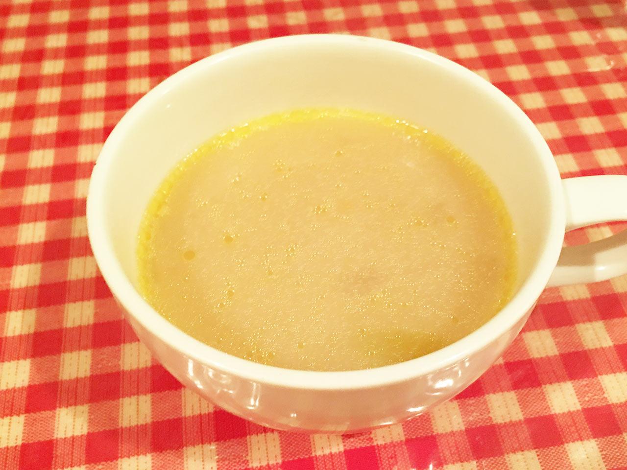 板橋のハンバーグ屋「あいだ」のランチスープ
