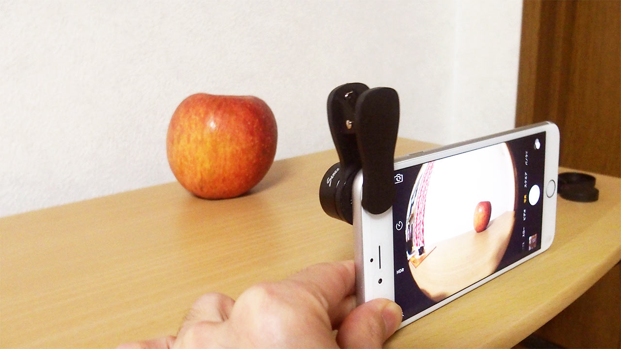 iPhoneで使える魚眼・広角・マクロのカメラレンズが使いやすくていい感じ